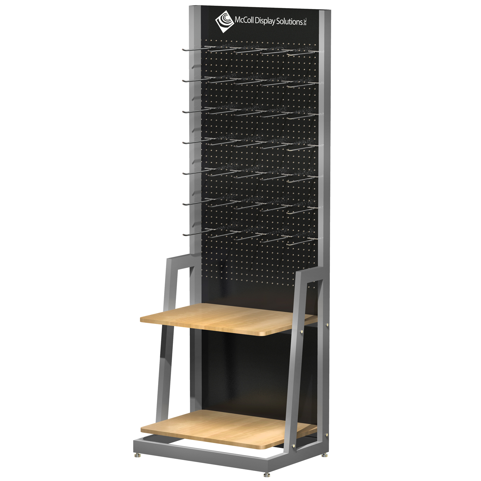3D Rendering Point of Purchase Retail Pegboard Shelf System Lightwave 3D